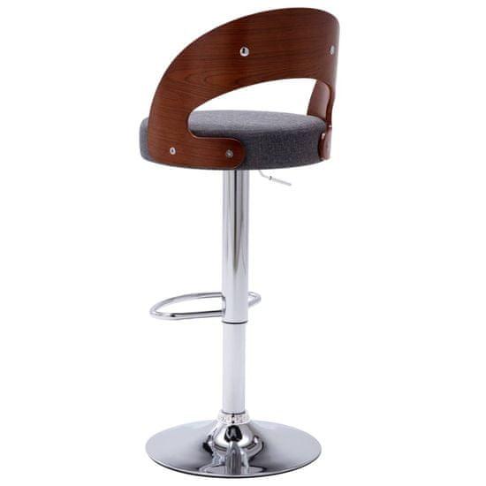 shumee Barski stolčki 2 kosa temno siv ukrivljen les in tkanina