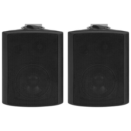shumee Nástěnné stereo reproduktory 2 ks černé indoor outdoor 80 W