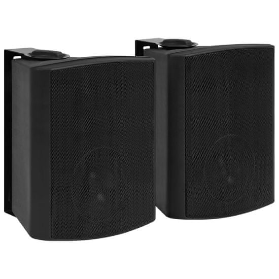 shumee Nástěnné stereo reproduktory 2 ks černé indoor outdoor 120 W