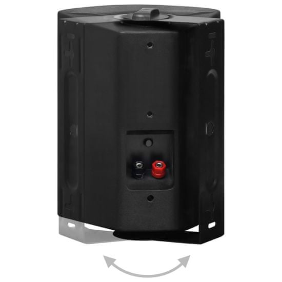 shumee Nástěnné stereo reproduktory 2 ks černé indoor outdoor 100 W