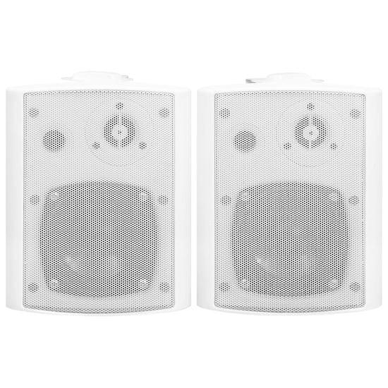 shumee Nástěnné stereo reproduktory 2 ks bílé indoor outdoor 80 W