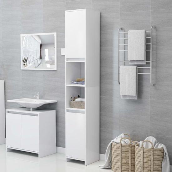 shumee Szafka łazienkowa, biała, 30x30x183,5 cm, płyta wiórowa