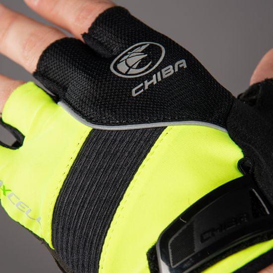 CHIBA Cyklistické rukavice pro dospělé BioXCell Classic neónově-žluté