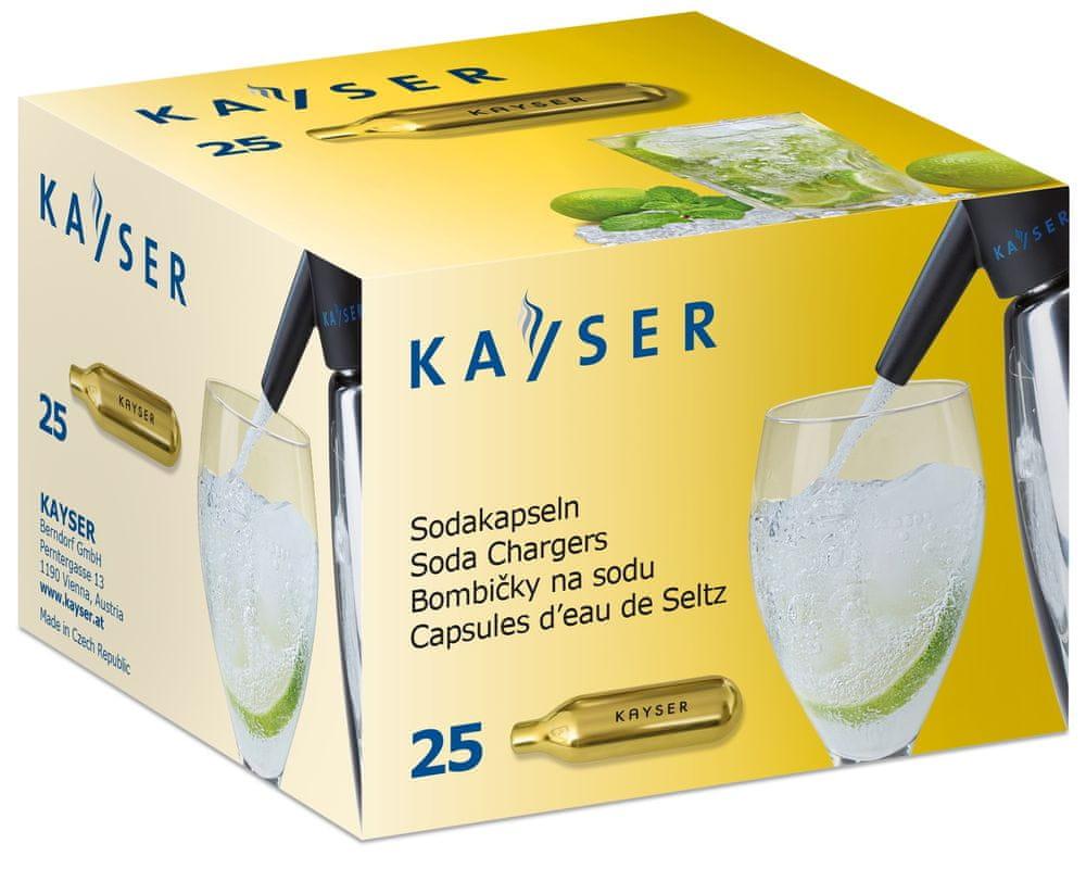 Kayser Sifonové bombičky CO2 jednorázové 25 ks