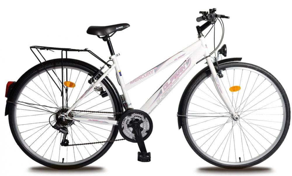 """Olpran trekingové kolo Mercury 28"""" bílá/růžová dámské"""