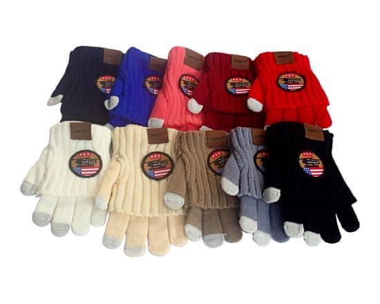 ORSI Zimní dětské rukavice s nášivkou šedé
