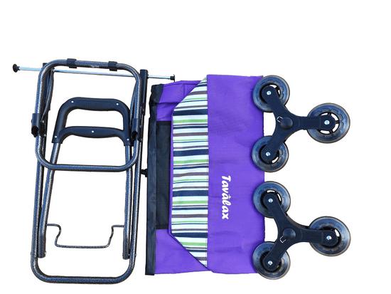 Tavalax Nákupní taška na kolečkách, fialová, skládací