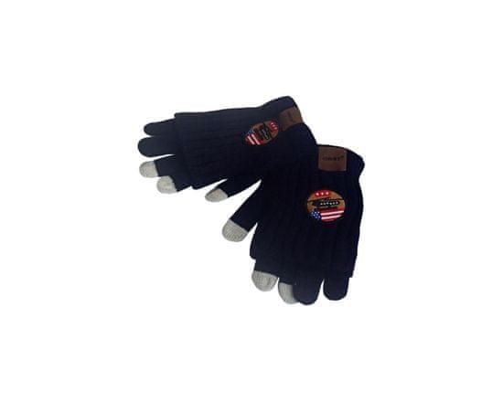 ORSI Zimní dětské rukavice s nášivkou tmavě modré