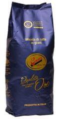 D+K DRMELA Qualita Oro La Genovese zrnková káva 1 kg - certifikovaná směs pro italské espresso .