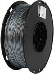 Gembird tisková struna, PLA+, 1,75mm, 1kg, stříbrná (3DP-PLA+1.75-02-S)