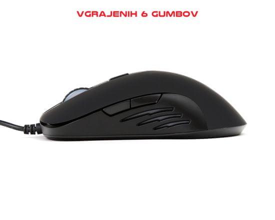 Omega VSETMPX6 Pro Gaming optična miška, 6 tipk + Gaming podloga za miško