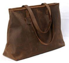 LEA&THER Dámská kožená taška, Shopping Bag Crazy Horse