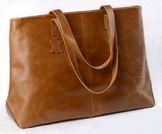LEA&THER Dámská kožená taška, Shopping Bag Brown