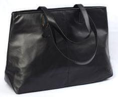 LEA&THER Dámská kožená taška, Shopping Bag Black