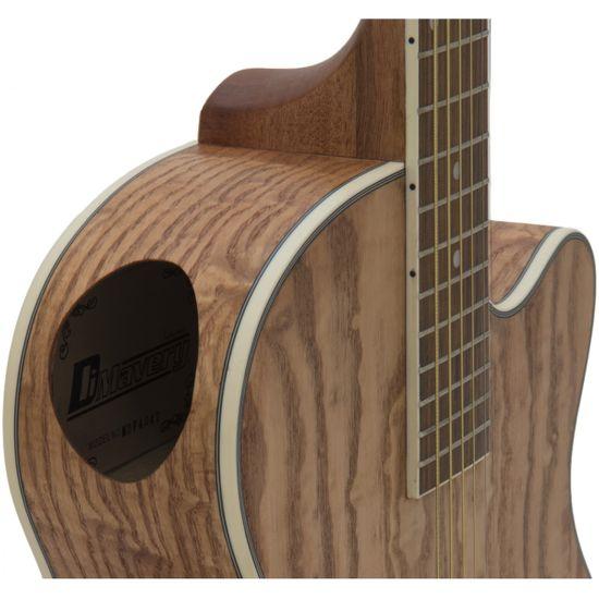 Dimavery SP-100, elektroakustická gitara typu Folk, prírodné