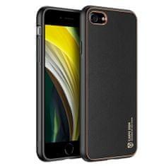 Dux Ducis Yolo usnje ovitek za iPhone 7/8/SE 2020, črna