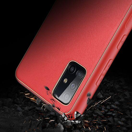 Dux Ducis Yolo usnje ovitek za Samsung Galaxy A71, rdeča