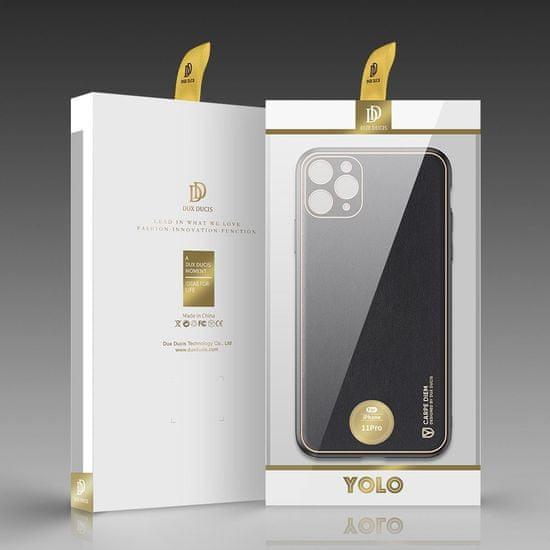 Dux Ducis Yolo usnje ovitek za iPhone 11 Pro, črna