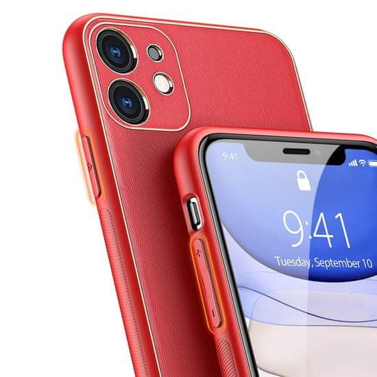 Dux Ducis Yolo usnje ovitek za iPhone 11, rdeča