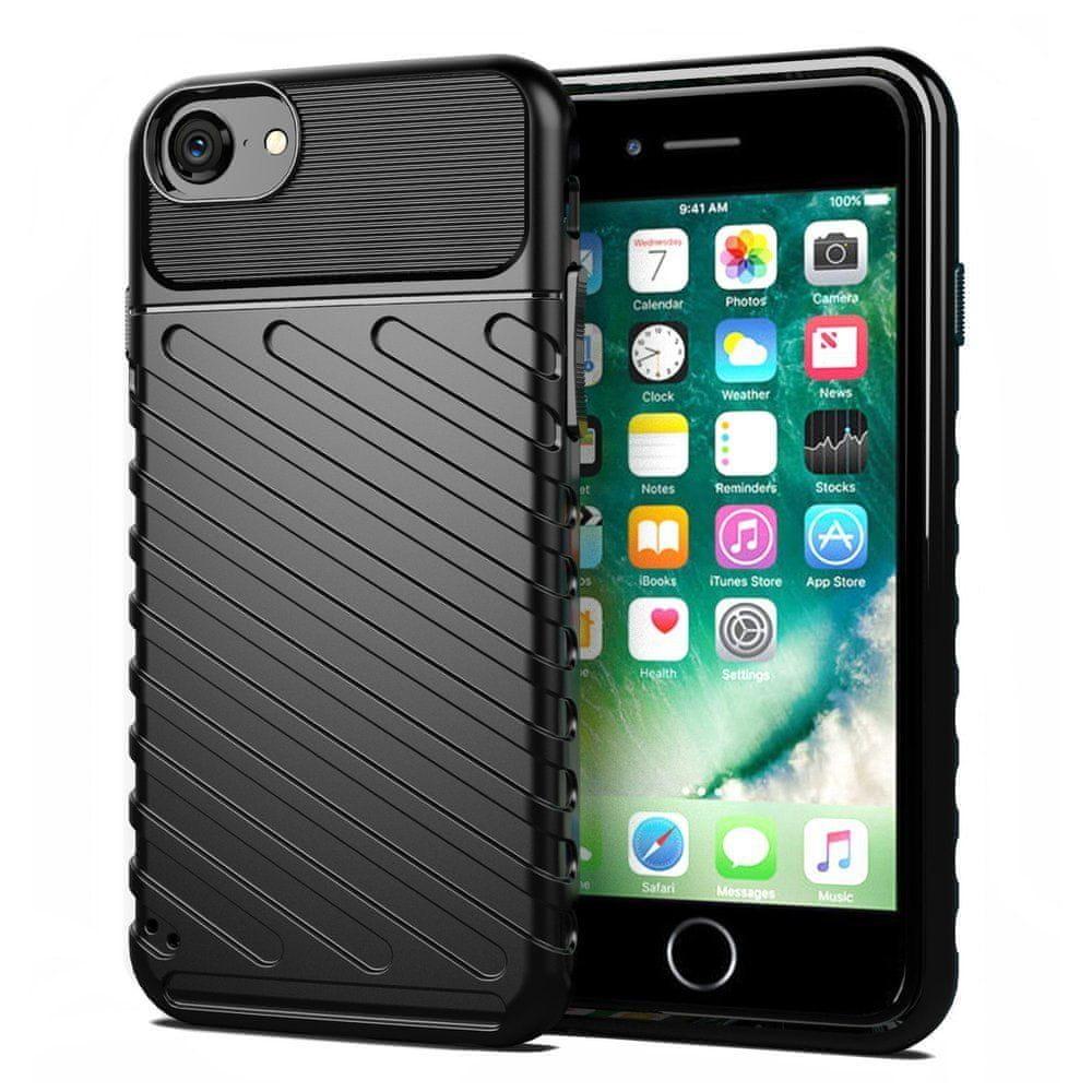MG Thunder silikónový kryt na iPhone7/8/SE 2020, čierny