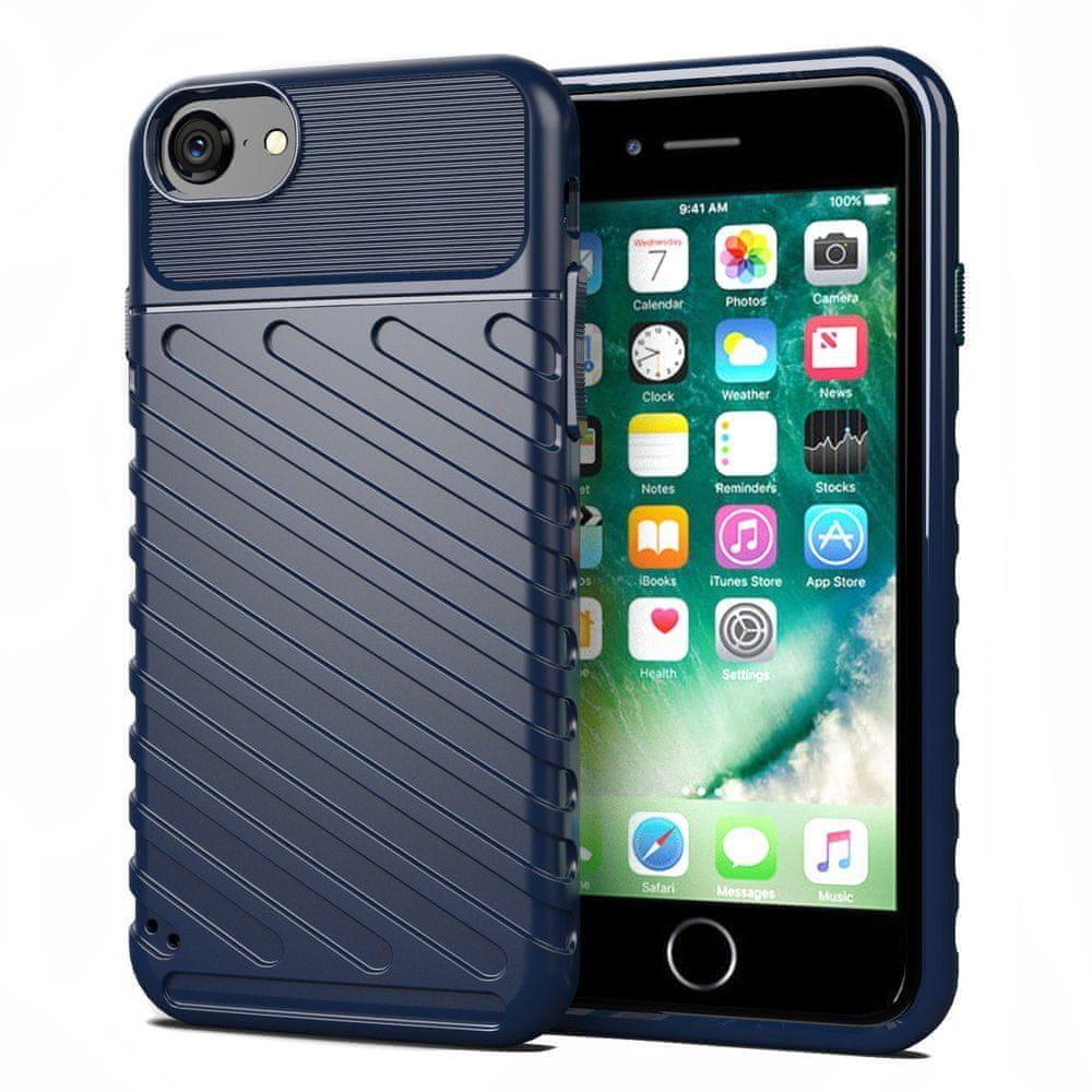MG Thunder silikónový kryt na iPhone7/8/SE 2020, modrý