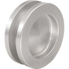 KWS Mušle pro posuvné dveře ø 65 mm, šroubovací, hliník stříbrný elox