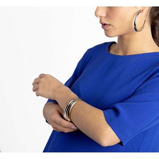 Calvin Klein Luksuzni pozlačeni uhani Groovy KJ8QPE100100