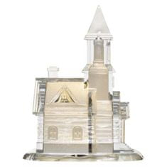 Emos 3LED akrilna hišica - cerkev, 3AAA, topla bela