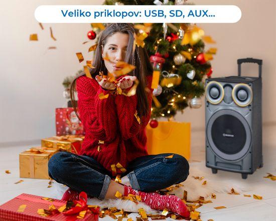 Manta SPK5003 GHUL karaoke zvočni sistem