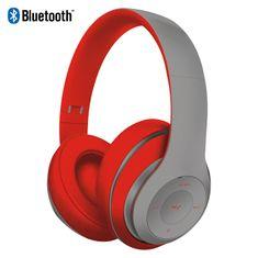 Platinet Freestyle FH0916GR naglavne Bluetooth slušalke, sive/rdeče