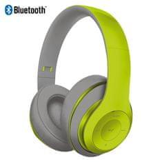 Platinet Freestyle FH0916GG naglavne Bluetooth slušalke, sive/zelene