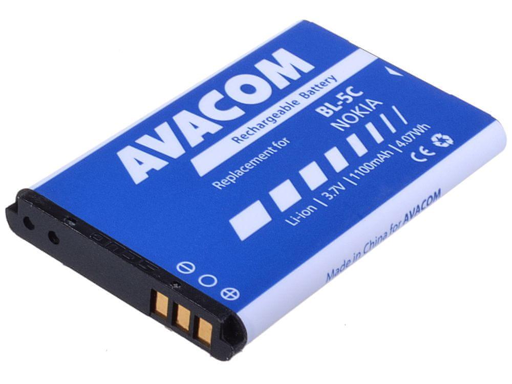 Avacom baterie do mobilu Nokia 6230, N70, Li-Ion 3,7V 1100mAh (náhrada BL-5C) GSNO-BL5C-S1100A