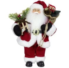 Dům Vánoc Santa v červeném kabátku 30 cm
