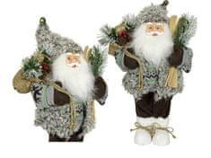 Dům Vánoc Santa šedivý 45 cm