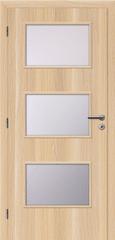 SOLODOOR Interiérové dveře SOLODOOR, prosklené, model SMART 6, šířka 700 mm, pravé provedení, povrch SOLO STRUKTUR, dekor STOCKHOLM, oblá boční hrana