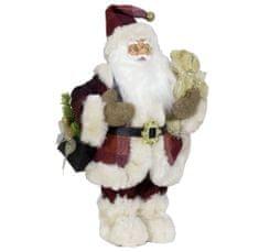 Dům Vánoc Santa s taškou a medvídkem 45 cm
