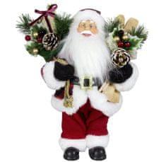 Dům Vánoc Santa s lyžemi a dárky 45 cm
