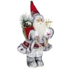Dům Vánoc Santa s lyžemi 30 cm