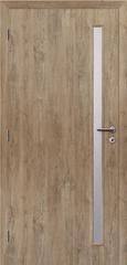 SOLODOOR Interiérové dveře SOLODOOR, prosklené, model SMART 20, šířka 700 mm, pravé provedení, povrch SOLO STRUKTUR, dekor DUB ALPSKÝ, oblá boční hrana