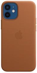 Apple etui ochronne na telefon iPhone 12 mini Leather Case with MagSafe - Saddle Brown (MHK93ZM/A)