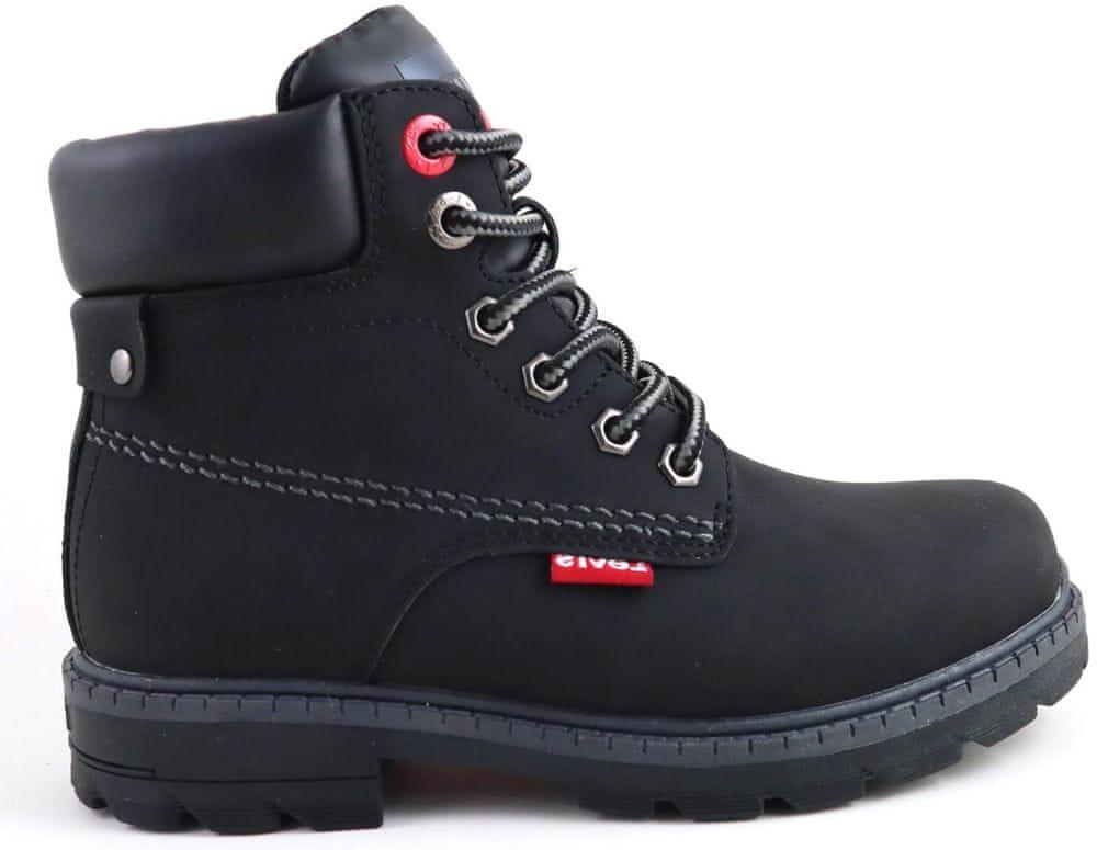Levi's dětská kotníčková obuv NEW FORREST černá 33