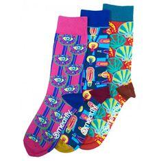 MEATFLY 3 PACK - zokni Globe socks - S19 Multipack (Méret 43-46)