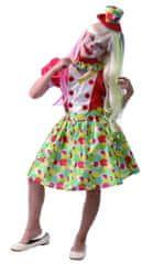 MaDe kostium karnawałowy - klaun dziewczynka 120 - 130
