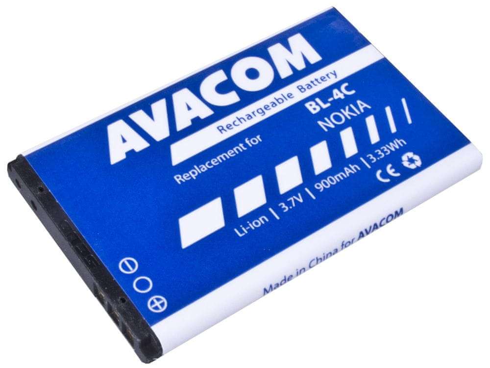 Avacom baterie do mobilu Nokia 6300 Li-Ion 3,7V 900mAh (náhrada BL-4C) GSNO-BL4C-S900A