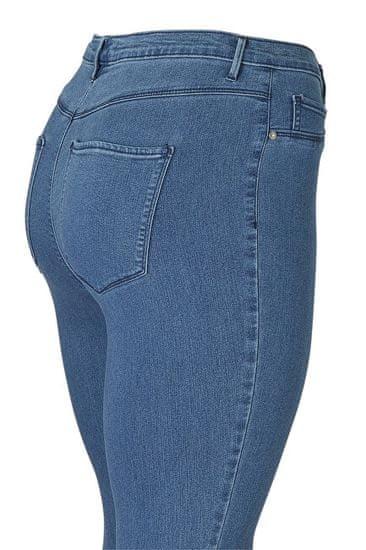 Only Carmakoma Ženske kavbojke CARSTORM PUSH UP 15174947 Srednje Blue Denim