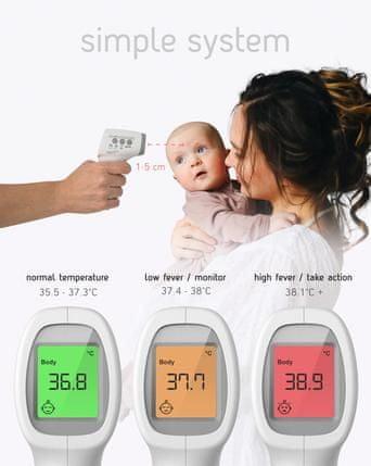 Sweet Dreamers brezkontaktni termometer, infrardeči