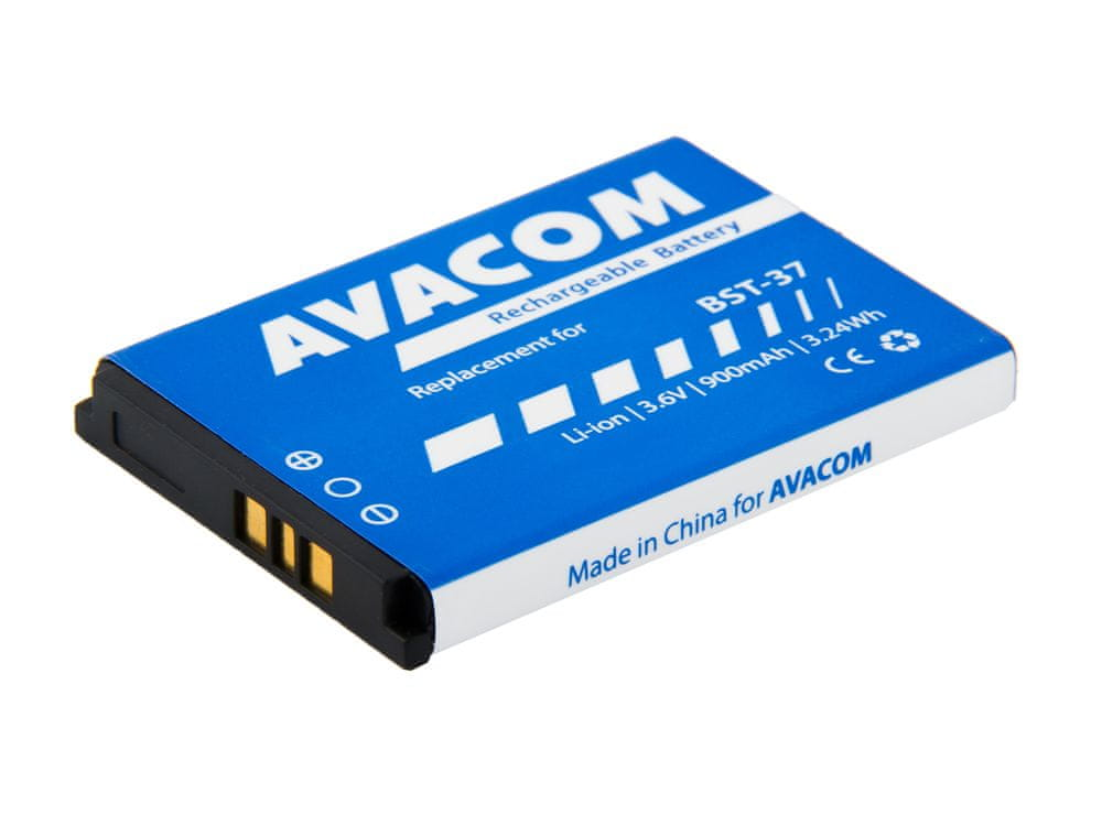 Avacom baterie do Sony Ericsson K750, W800 Li-Ion 3,7V 900mAh, (náhrada BST-37) GSSE-K750-900