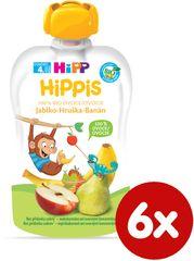 HiPP BIO 100% ovoce Jablko-Hruška-Banán 6 x 100 g