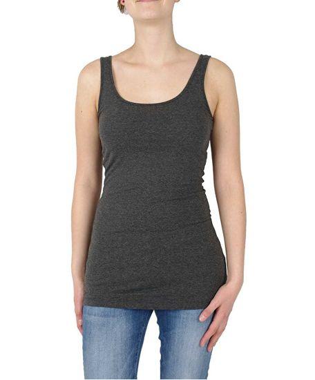 Vero Moda 3 PACK - ženska majica brez VMMAXI MY SOFT LONG 10229554 Bright White in Dark Grey Melange