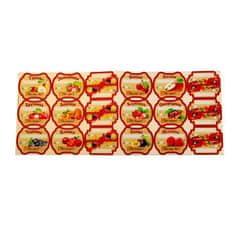 Kraftika Sada barevných štítků pro domácí přípravky z bobulí a ovoce
